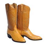 Tan Full Quill Ostrich Western Boots 10 D