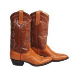 Cognac Smooth Ostrich Western Boots 10 D